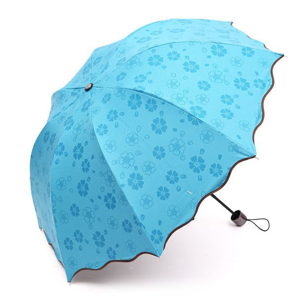 Зонтик с узором, проявляющимся под дождём