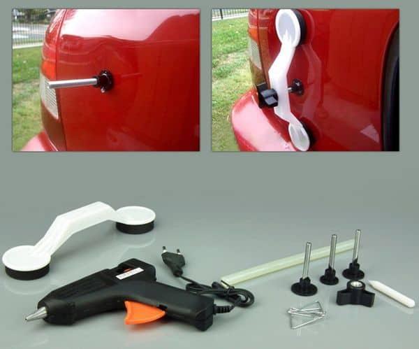 Бюджетный набор для удаления вмятин на кузове авто