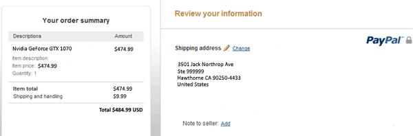 Что делать, если PayPal не даёт выбрать адрес в США?
