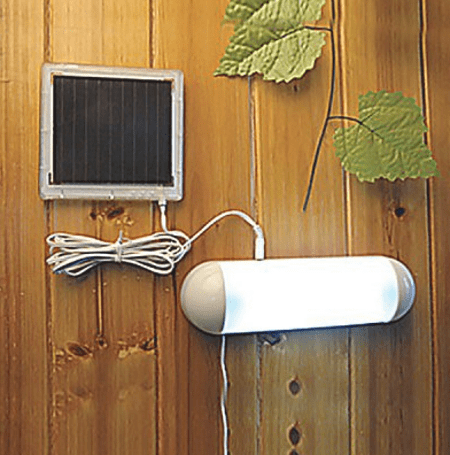 Автономная лампа на дачу с солнечной панелью