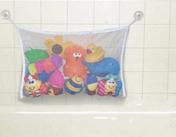 Подвесная сетка для хранения детских игрушек в ванной