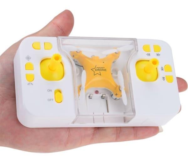 Миниатюрный дрон с удобной коробкой для переноски