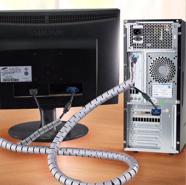 Органайзер для кабелей в виде спирали