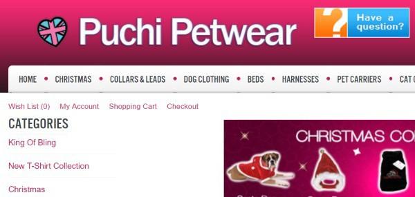 Товары для кошек и собак в британском Puchipetwear.com