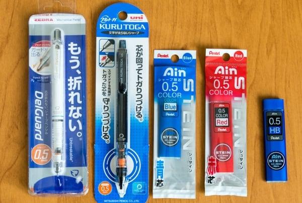 Большой обзор механических карандашей из Японии
