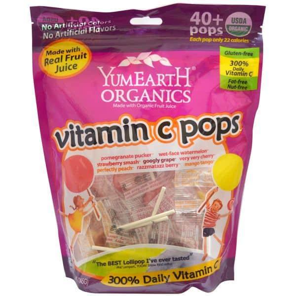 Витаминные конфеты YumEarth, купленные на iHerb