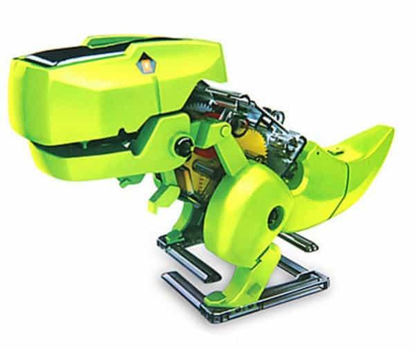 Игрушечный робот-динозавр с солнечной панелью