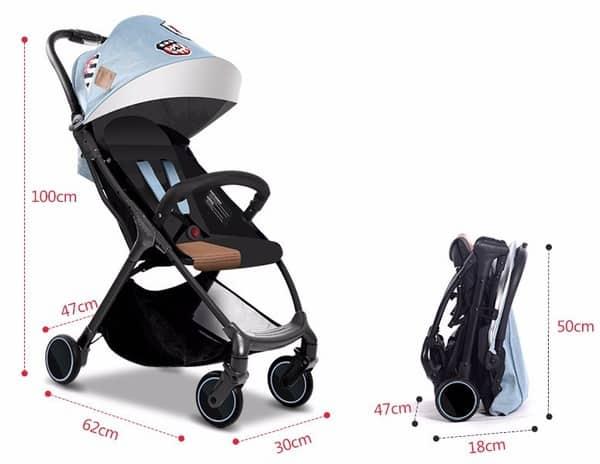 Лёгкая и проворная складная детская коляска