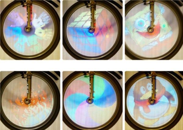Графическая подсветка для велосипедных колёс
