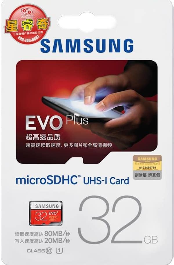 Подделка флеш-карты Samsung EVO+ 32gb