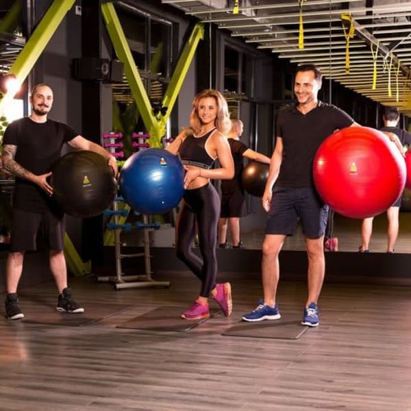 Надувной фитнес-мяч, купленный на eBay