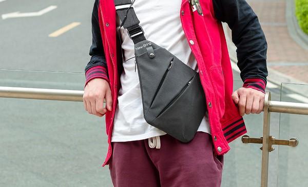 Узкая сумка на тело для скрытого ношения