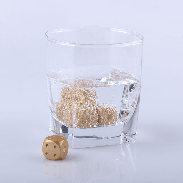 Игральные кости из металла для охлаждения напитков