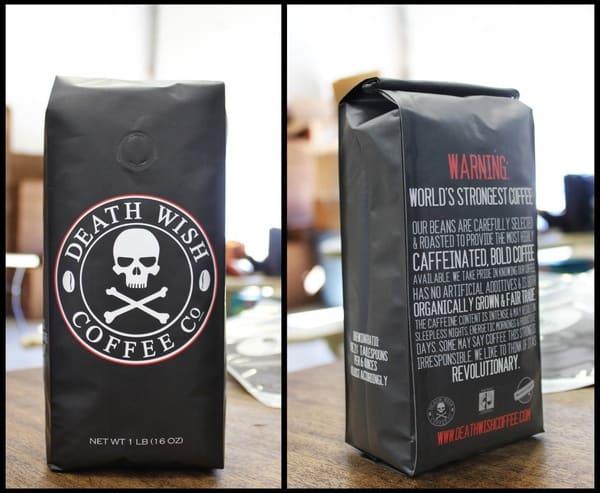 Пакет самых крепких в мире кофейных зёрен Death Wish