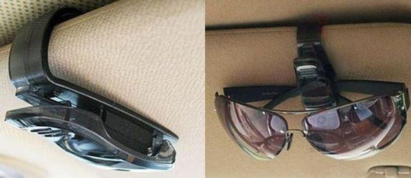 Клипса для крепления очков в автомобиле