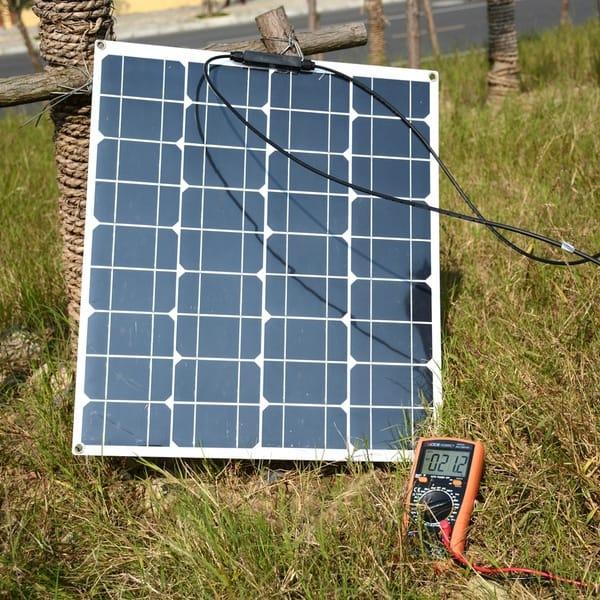 Сборка миниатюрной электростанции на основе 50-ваттной солнечной панели