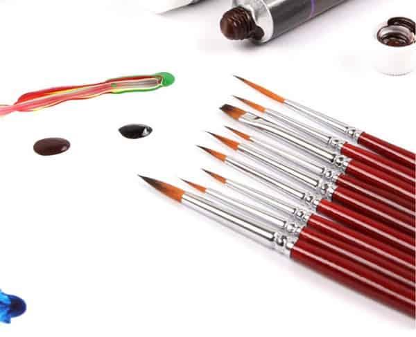 Набор кисточек для рисования, купленный на Aliexpress