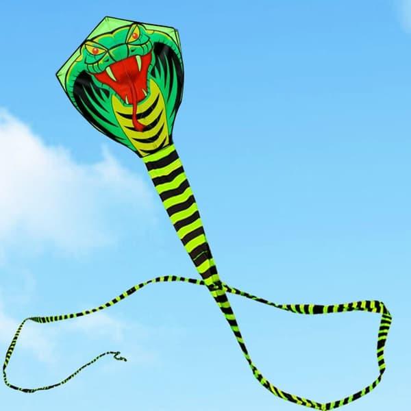 Воздушный змей с очень длинным хвостом