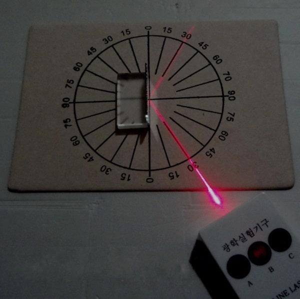 Чемоданчик с оборудованием для оптических опытов