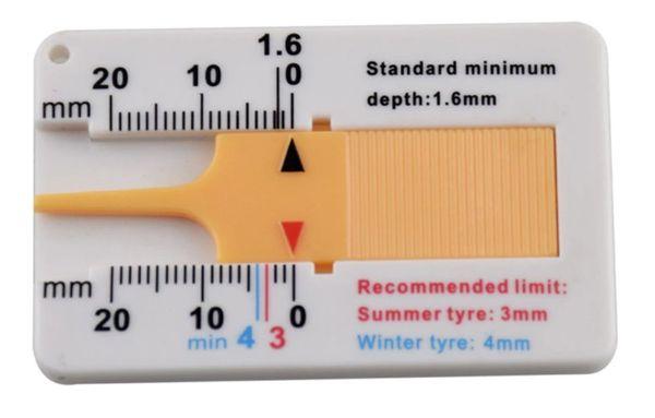 Пластинка для измерения высоты протектора шин