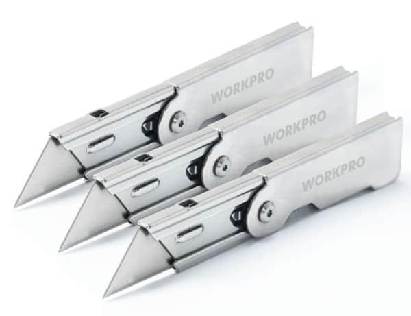 Складной ножик Workpro со сменными лезвиями