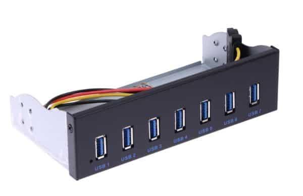 Хаб на 7 портов USB 3.0 для установки в корпус ПК