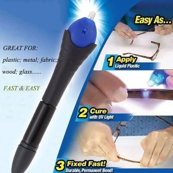 Светоотверждаемый клей для быстрого ремонта