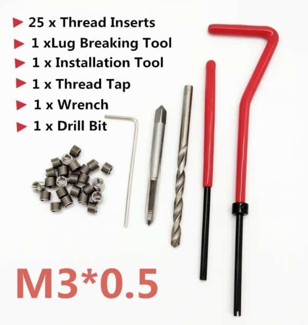 Комплект инструментов для восстановления резьбы
