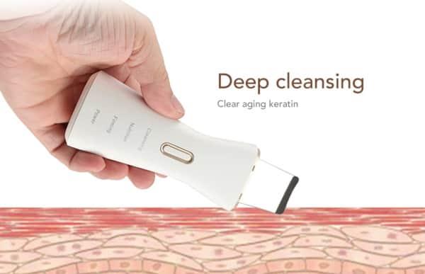 Очиститель кожи, воздействующий ультразвуком