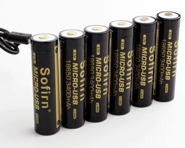 Аккумуляторы Sofirn 18650 с зарядкой по Micro USB