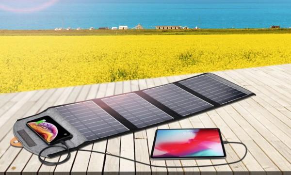 Тестирование солнечной панели на 22 Вт CHOETECH SC005