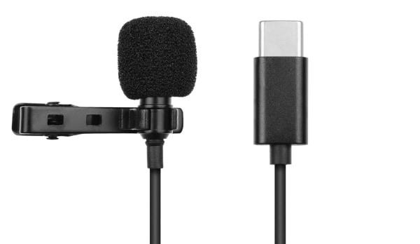 Петличный микрофон с кабелем Type-C